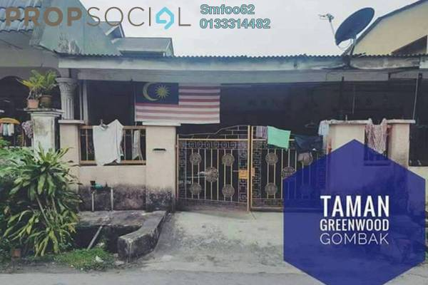 For Sale Terrace at Taman Greenwood, Gombak Freehold Semi Furnished 4R/2B 410k