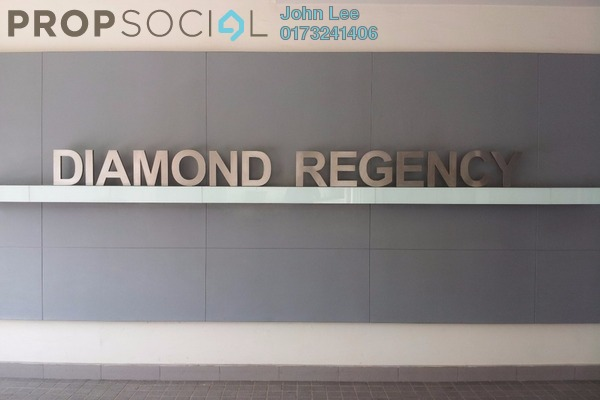 For Sale Condominium at Diamond Regency, Setapak Freehold Fully Furnished 3R/2B 498k