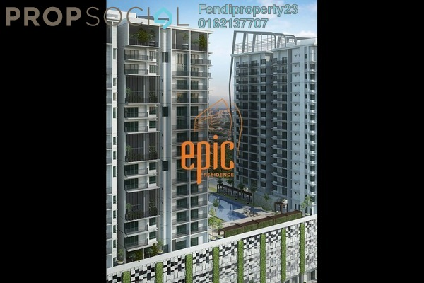 For Rent Condominium at Epic Residence, Bandar Bukit Puchong Freehold Fully Furnished 3R/2B 1.6k
