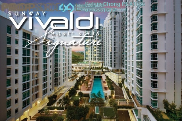 For Sale Condominium at Sunway Vivaldi, Mont Kiara Freehold Semi Furnished 4R/5B 2.9m