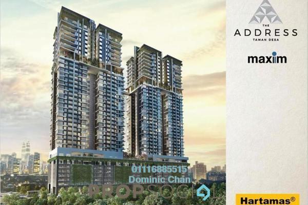 For Sale Condominium at The Address, Taman Desa Freehold Semi Furnished 3R/3B 680k