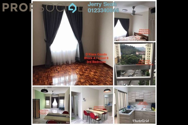 For Rent Condominium at D'Kiara Apartment, Pusat Bandar Puchong Freehold Fully Furnished 3R/2B 1.5k