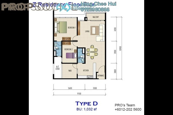 For Sale Condominium at The Z Residence, Bukit Jalil Freehold Unfurnished 3R/2B 620k