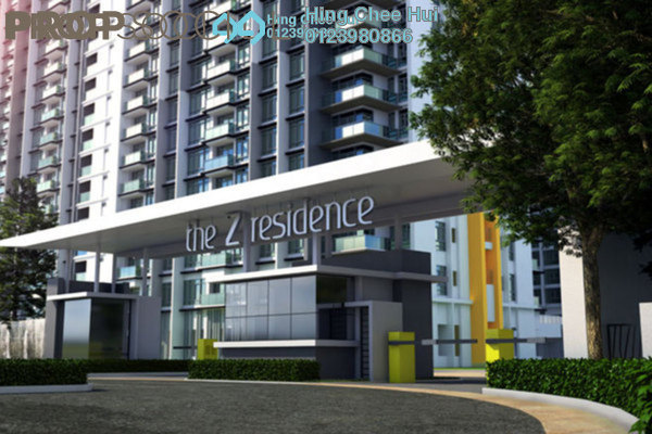 For Sale Condominium at The Z Residence, Bukit Jalil Freehold Semi Furnished 2R/2B 600k