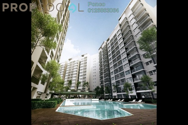 For Sale Serviced Residence at Suria Residence, Bukit Jelutong Freehold Semi Furnished 3R/2B 779k