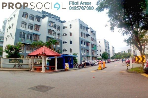 For Sale Apartment at Delima Apartment, Desa Pandan Freehold Semi Furnished 3R/2B 375k