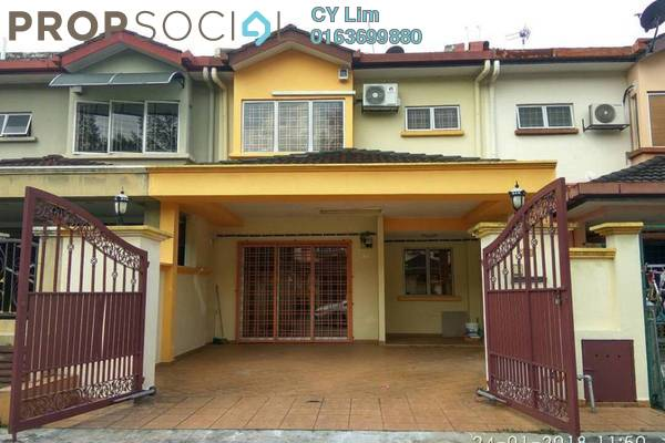 For Rent Terrace at Taman Puncak Jalil, Bandar Putra Permai Freehold Semi Furnished 4R/3B 1.3k