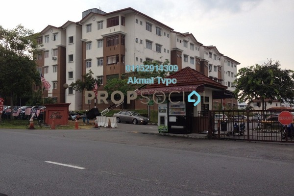 For Sale Apartment at Seri Mawar Apartment, Bandar Seri Putra Leasehold Unfurnished 3R/2B 200k