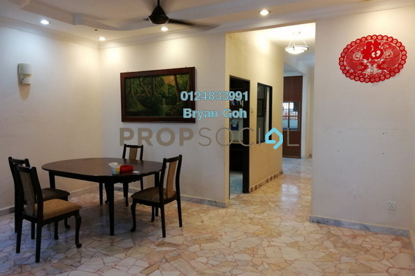 For Rent Terrace at Taman Kampar, Georgetown Freehold Semi Furnished 5R/2B 1.6k