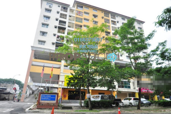 For Sale Condominium at Section 16, Shah Alam Freehold Semi Furnished 3R/2B 279k