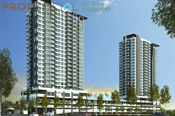 For Sale Condominium at Twinz Residences, Bandar Puchong Jaya Freehold Unfurnished 3R/2B 544k