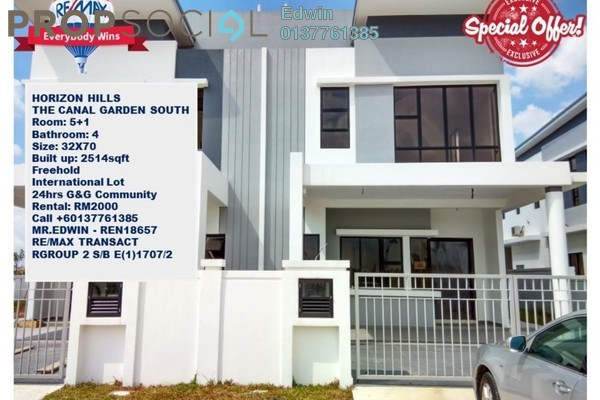 For Rent Terrace at The Canal Garden, Horizon Hills Freehold Unfurnished 5R/4B 2k