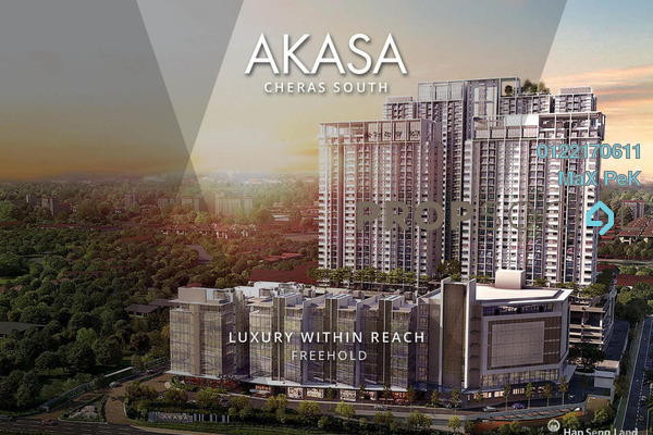 For Sale Condominium at Akasa, Balakong Freehold Semi Furnished 2R/2B 463k
