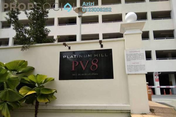 For Sale Condominium at Platinum Hill PV8, Setapak Freehold Semi Furnished 3R/2B 639k