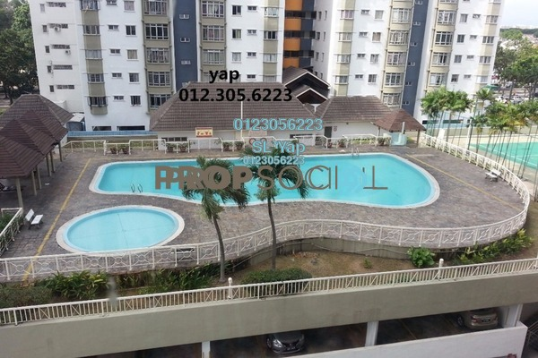 For Sale Condominium at Endah Regal, Sri Petaling Freehold Semi Furnished 3R/2B 388k