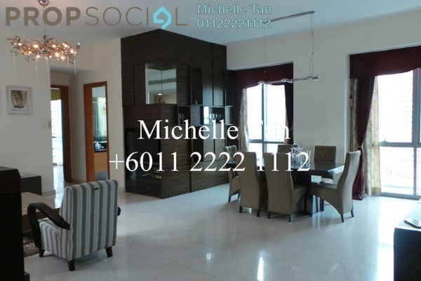 For Rent Condominium at The Meritz, KLCC Freehold Fully Furnished 3R/3B 6.8k
