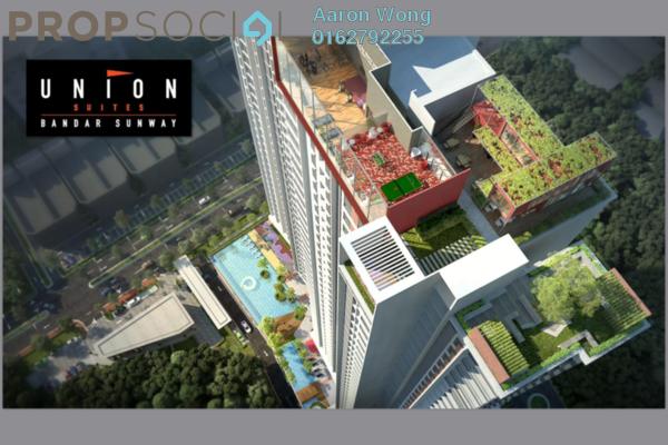 For Sale SoHo/Studio at Union Suites, Bandar Sunway Freehold Fully Furnished 1R/1B 446k