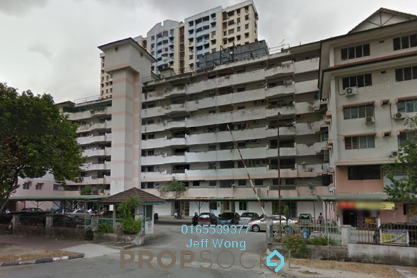 For Sale Apartment at Taman Seri Hijau, Jelutong Freehold Unfurnished 3R/2B 300k
