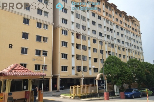 For Rent Apartment at Puncak Baiduri, Cheras South Freehold Semi Furnished 3R/2B 1.2k