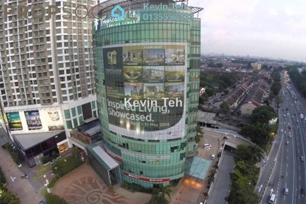 For Rent Condominium at Tropicana City Tropics, Petaling Jaya Freehold Semi Furnished 2R/2B 1.6k