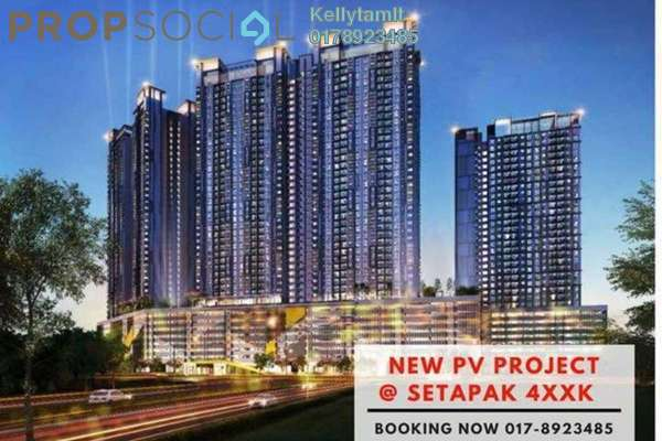 For Sale Condominium at PV18 Residence, Setapak Freehold Unfurnished 3R/2B 488k
