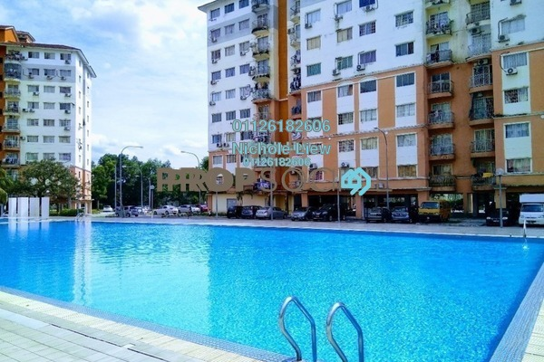 For Sale Condominium at Sri Hijau, Bandar Mahkota Cheras Freehold Semi Furnished 4R/3B 238k