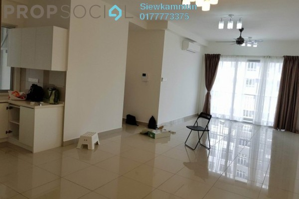 For Rent Condominium at Villa Crystal, Segambut Freehold Semi Furnished 3R/2B 2k