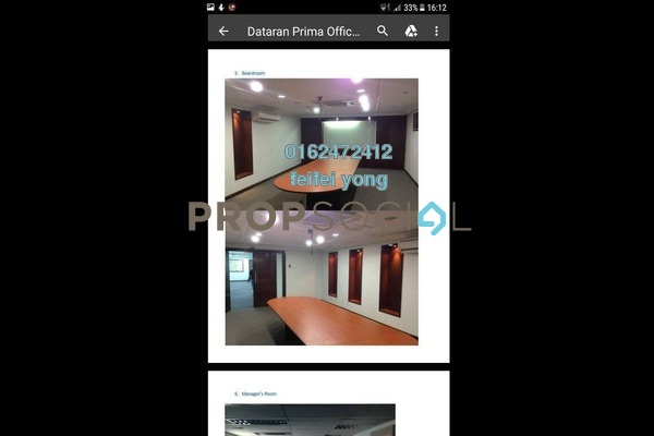 For Sale Office at Dataran Prima, Kelana Jaya Freehold Semi Furnished 0R/0B 2.8m