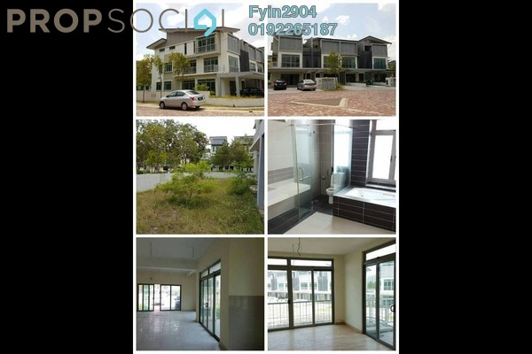 For Sale Superlink at D'Island, Puchong Freehold Semi Furnished 5R/5B 950k