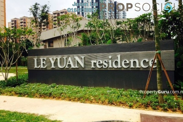 For Rent Condominium at Le Yuan Residence, Kuchai Lama Freehold Fully Furnished 3R/2B 3k