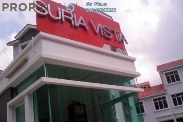 For Rent Townhouse at Suria Vista, Paya Terubong Freehold Semi Furnished 4R/3B 1.2k