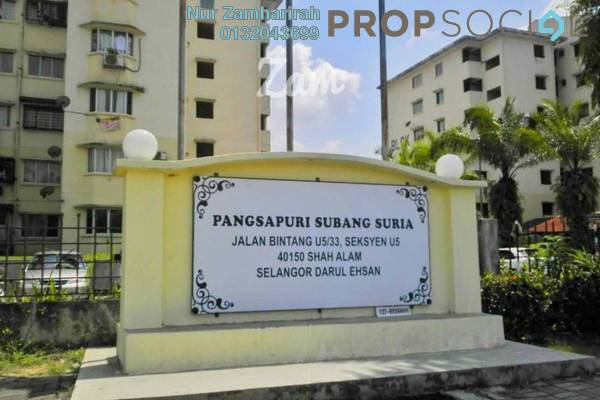 For Sale Apartment at Subang Suria, Subang Freehold Semi Furnished 3R/2B 220k