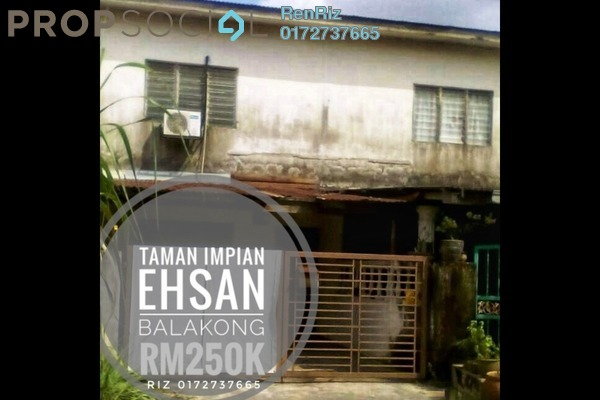 For Sale Terrace at Taman Impian Ehsan, Balakong Freehold Semi Furnished 2R/1B 250k