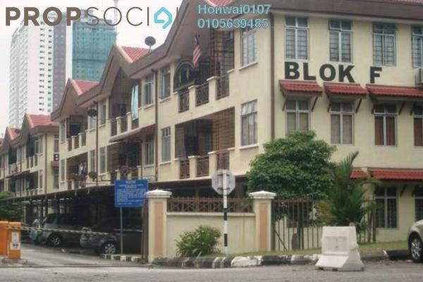 For Rent Apartment at Pinggiran Cempaka, Pandan Indah Freehold Semi Furnished 3R/2B 1.2k