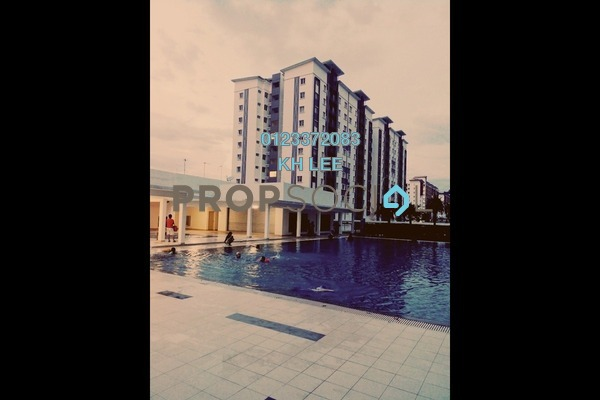 For Sale Apartment at Seri Intan Apartment, Setia Alam Freehold Fully Furnished 3R/2B 300k