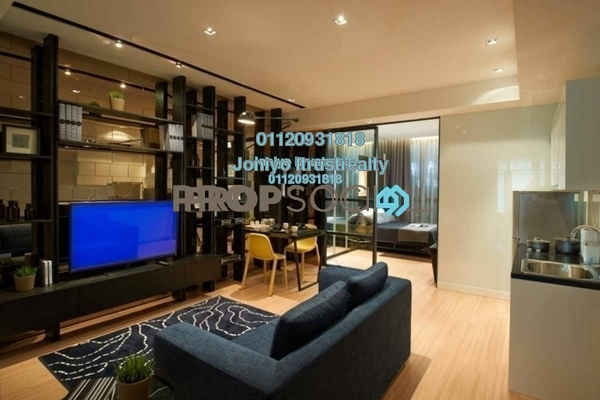 For Sale Serviced Residence at H2O Residences, Ara Damansara Freehold Semi Furnished 1R/1B 389k