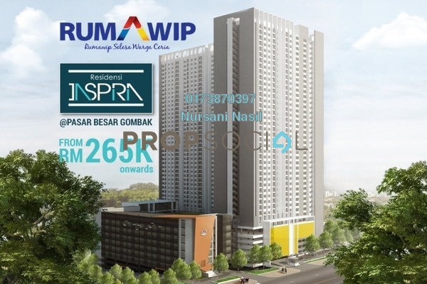 For Sale Condominium at Residensi Inspiria, Setapak Freehold Unfurnished 3R/2B 280k