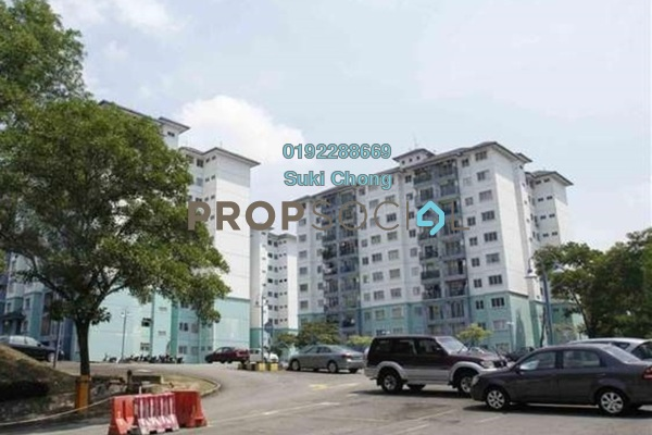 For Sale Condominium at Akasia Apartment, Pusat Bandar Puchong Freehold Unfurnished 3R/2B 308k