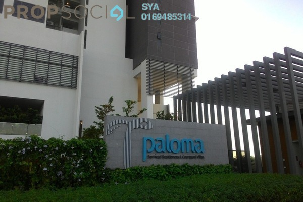 For Rent Serviced Residence at Paloma Serviced Residences, Subang Jaya Freehold Fully Furnished 0R/1B 2k