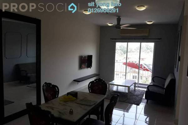 For Rent Condominium at Kristal Heights, Shah Alam Freehold Fully Furnished 3R/2B 1.6k