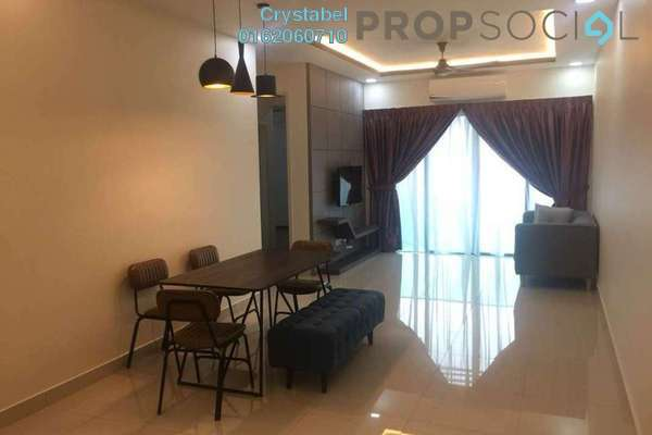 For Rent Condominium at Riverville Residences, Old Klang Road Freehold Semi Furnished 3R/3B 2.2k