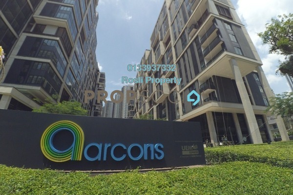 For Rent Serviced Residence at Arcoris, Mont Kiara Freehold Semi Furnished 2R/2B 3.6k