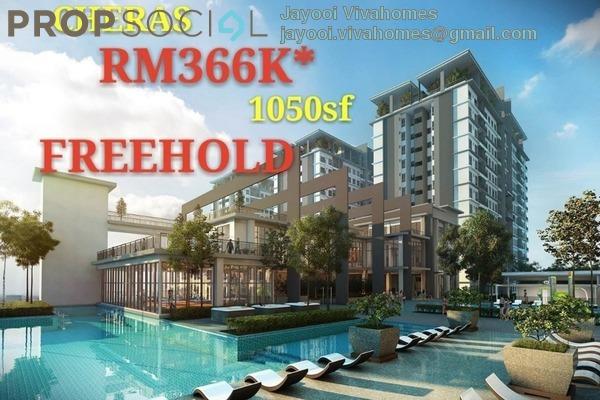 For Sale Condominium at Twin Palms, Bandar Sungai Long Freehold Unfurnished 3R/2B 366k
