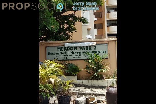 For Rent Condominium at Meadow Park 2, Old Klang Road Freehold Semi Furnished 3R/2B 1.2k