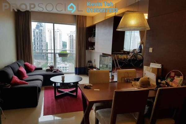 For Sale Condominium at VERVE Suites, Mont Kiara Freehold Fully Furnished 2R/2B 920k