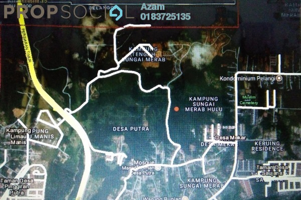 For Sale Land at Kampung Sungai Merab Luar, Bangi Freehold Unfurnished 0R/0B 3.7m