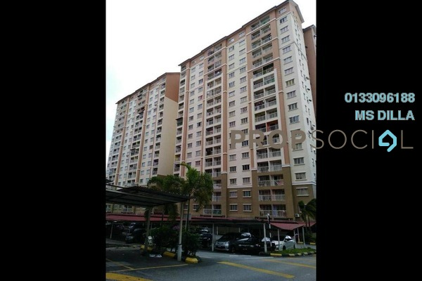 For Sale Apartment at Lakeview Apartment, Batu Caves Freehold Semi Furnished 3R/2B 280k