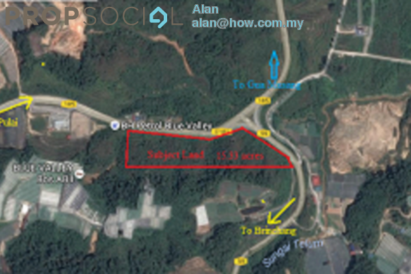 For Sale Land at Blue Valley, Cameron Highlands Freehold Unfurnished 0R/0B 262m