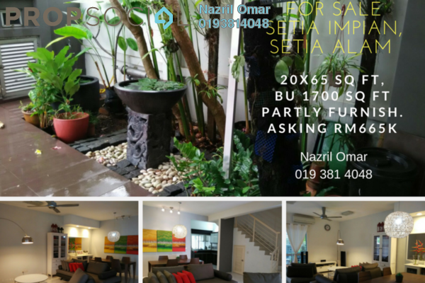 For Sale Terrace at Setia Impian, Setia Alam Freehold Semi Furnished 4R/3B 665k