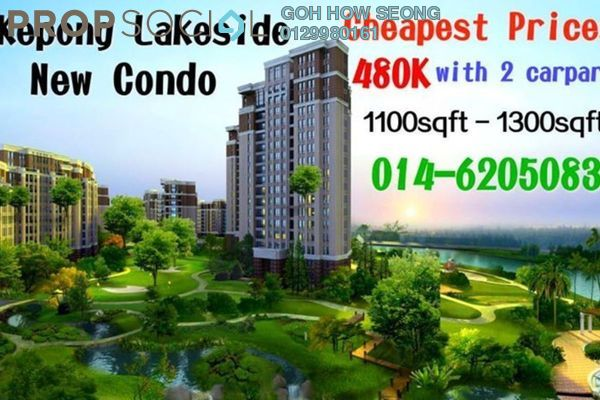 For Sale Condominium at The Henge Residence, Kepong Freehold Unfurnished 3R/2B 498k